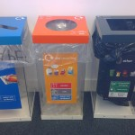 Recycling bins at the Library Annexe