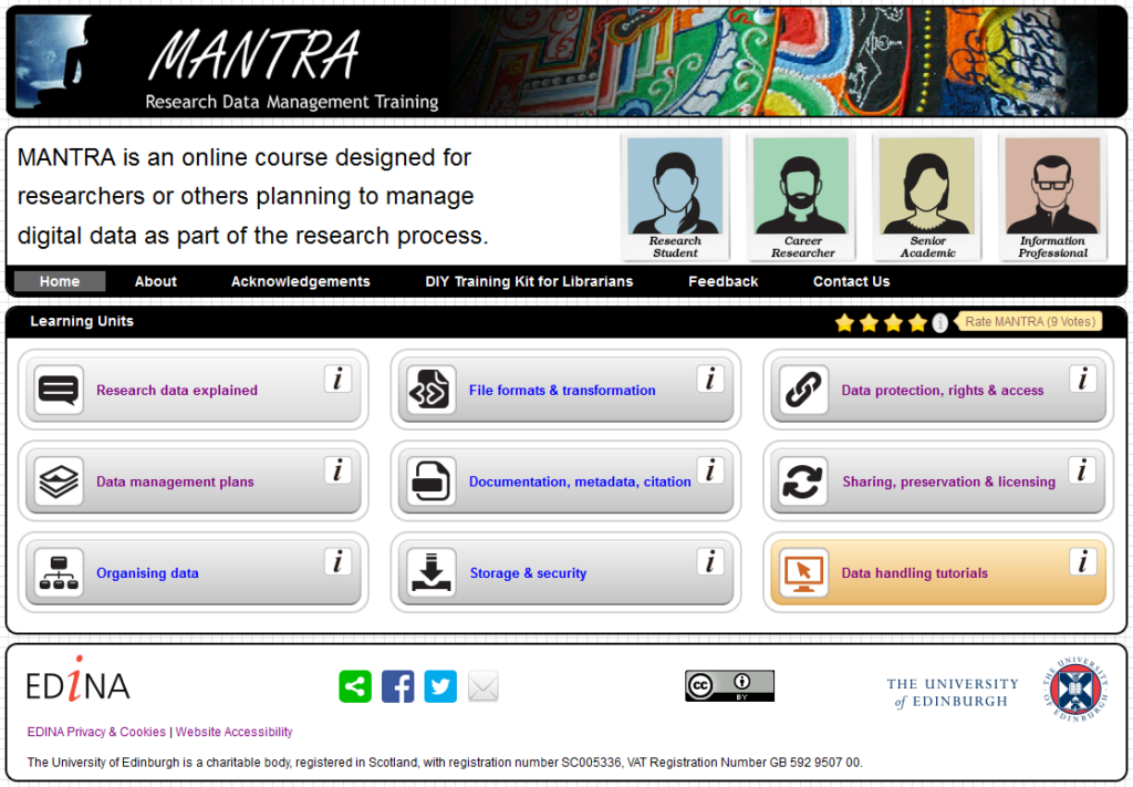 MANTRA home page