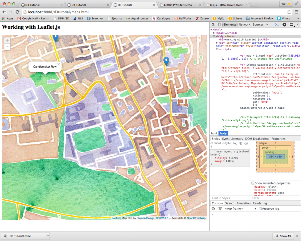 Visualising CSV data using leaflet JavaScript library
