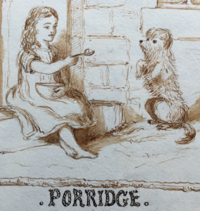 Illustration accompanying the recipe for porridge