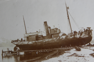 The vessel 'Samson' which rescued 3 men from King Haakon Bay after Shackleton's trek to Stromness (Salvesen B4 Box 2)