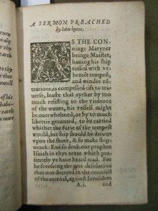 Knox, John. Sermon on Isaiah. London, 1566. New College Library LR1/7