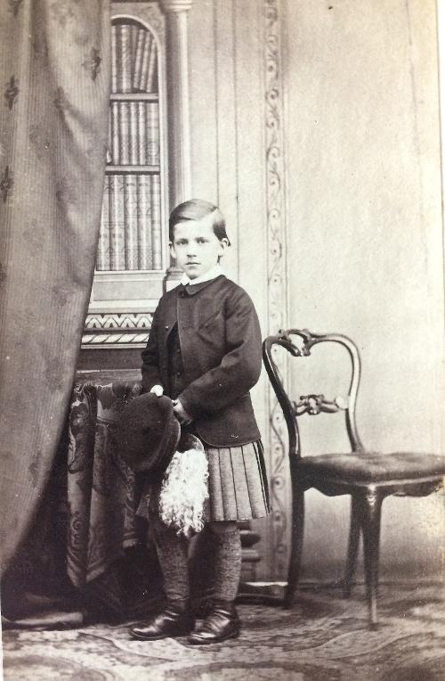 Carte de Visite, studio portrait of Patrick Geddes, aged 10. May 1864 (Ref: Coll-1167/GFP).