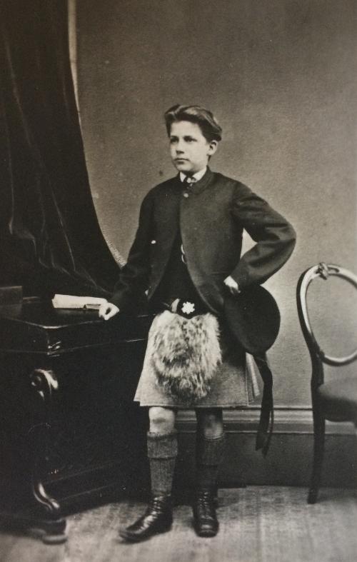 Copy of a Carte de Visite, studio portrait of Patrick Geddes, aged 16. c.1870 (Ref: Coll-1167/GFP).