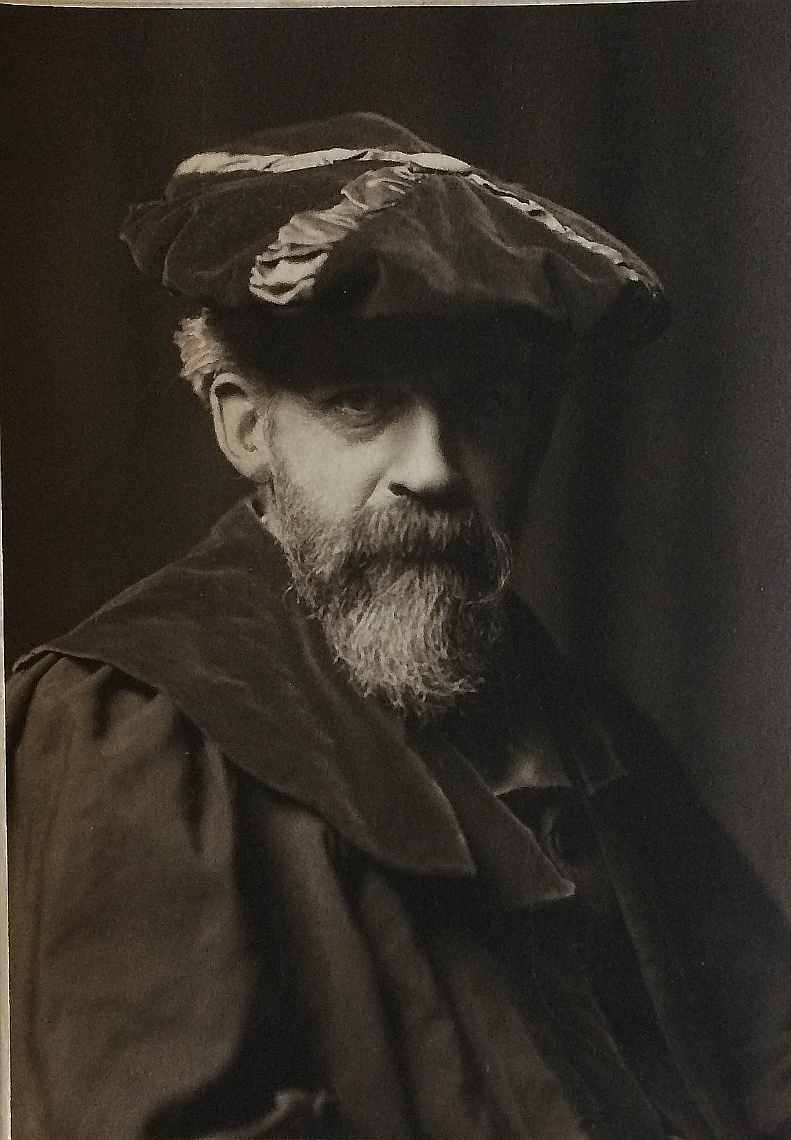 Photograph of Patrick Geddes, aged 59, in doctoral robes. c.1913