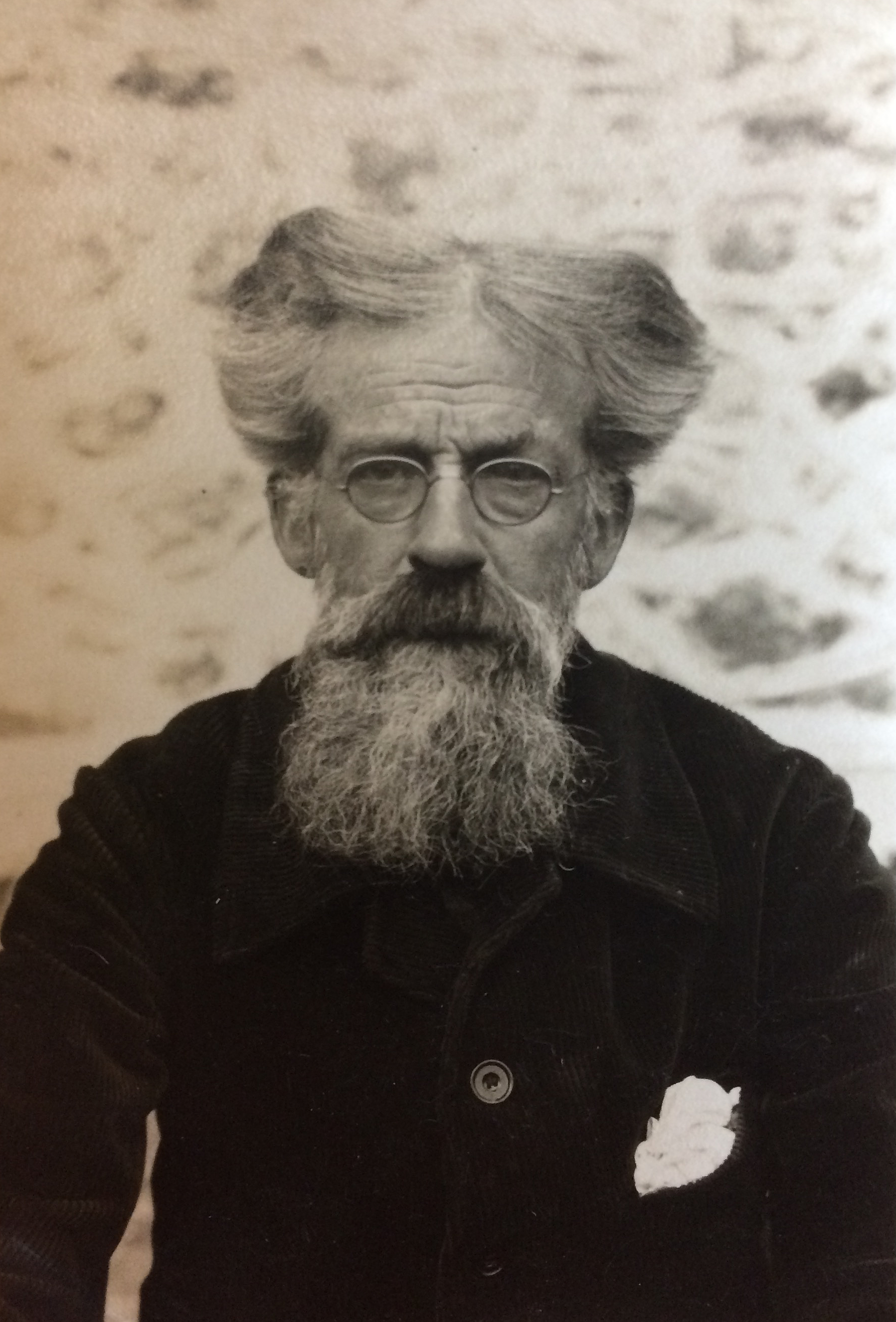 Photograph of Patrick Geddes, aged 73, at Montpellier, c.1927 (Coll-1167/GPF)