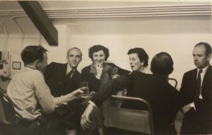 Staff socialising at the Institute of Animal Genetics, c. 1955