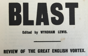 Detail from the title page of 'Blast' issue 2, July 1915, in the A.H.Campbell Collection.