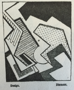 'The Design' by Jessica Dismorr (1885-1939), in 'Blast', issue 2, July 1915, in the A. H. Campbell Collection.