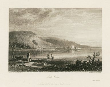 Loch Leven from Walter Scott, The Abbot. Engraving by Henri Gastineau.