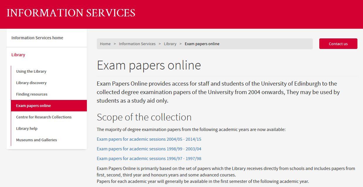 Exam Papers Online